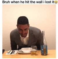 Bruh, Friends, and Memes: Bruh when he hit the wall i lost it Lmfaooo 😂😂 →DM - TAG to 15 friends for a shoutout 😂👇