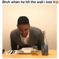Bruh, Funny, and Lost: Bruh when he hit the wall i lost it This how it be @larnite • ➫➫➫ Follow @Staggering for more funny posts daily!