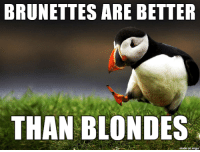 fight me: BRUNETTES ARE BETTER  THAN BLONDES  on imgur fight me