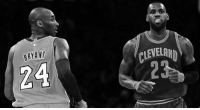 """Kobe Bryant, LeBron James, and Memes: BRYANT """"If I want to have fun I will play with Lebron James but If I want to win a Championship, I will play with Kobe Bryant."""" -Larry Bird  -The Mecca"""