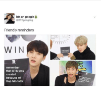 bts on google  @BTSgo ogling  Friendly reminders  WIN  remember  that BTS was  created  because of  Rap Monster  Their health  is important  Me BTS y you  membe . . . . You should follow @_.l.g.b.t.q._.pandas . . . . Stupid tags: lgbt lgbtq gay lesbian bisexual queer polysexual pansexual asexual gender sexuality genderfluid agender cisgender bigender pride lovewins loveislove nohatezone equality genderfluid twitter memes tumblr textpost tumblrtextpost relatable funny