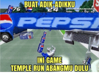 temple run: BUAT ADIKeADIKKU  B4  TOTAL  INI GAME  TEMPLE RUN ABANGMU DULU
