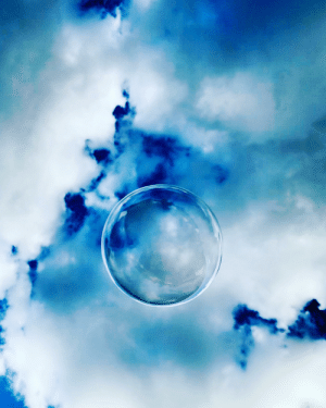 Sky, Bubble, and The: Bubble in the sky.