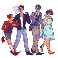 bubblyernie:  50s AU for my OCs!! art tag // commission info  Speedpaint (also under the cut) Keep reading: bubblyernie:  50s AU for my OCs!! art tag // commission info  Speedpaint (also under the cut) Keep reading