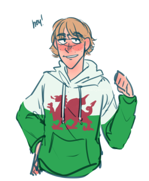 Target, Tumblr, and Blog: bubblyernie:  An APH Wales from my hetalia ask blogart tag // commission info