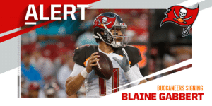 Buccaneers signing QB Blaine Gabbert to one-year deal. (via @RapSheet) https://t.co/ZxZQtlctUx: Buccaneers signing QB Blaine Gabbert to one-year deal. (via @RapSheet) https://t.co/ZxZQtlctUx