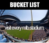 Bucket List, Mlb, and List: BUCKET LIST  isit  every mbstadium Hit SHARE if you want to do this.