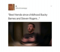 "b ° 《cred to owner》: @buckyspeggy  ""Best friends since childhood Bucky  Barnes and Steven Rogers..."" b ° 《cred to owner》"