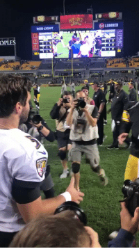 Memes, Bud Light, and 🤖: BUD LIGHT  84 LUMBER  OPLE Flacco & Big Ben | #SNF Postgame  #BALvsPIT https://t.co/SXwu8XOEuR