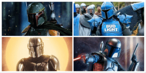 """Family, Meme, and Yoda: BUD  LIGHT  /DocDankage If I promise to stop calling my meme, """"Mandalorian Family Four Pack"""" since top left and bottom right aren't technically Mandalorians, can we all agree that Baby Yoda isn't F-ing Yoda so can we can all please stop calling him that too."""