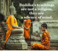 Buddha: Buddha's teachings  are not a religion,  they are  a science of mind  e-buddhism.