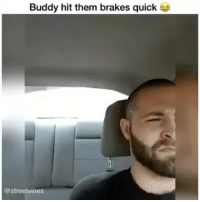 Driving, Dude, and Memes: Buddy hit them brakes quick  @streetvines Dude driving was so calm the whole time😂 - Tag A Friend👌 Double Tap For More Videos👍 Follow 👉 @hoodvine ••••••••••••••••••••••