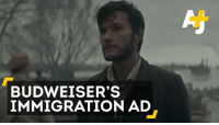 Memes, 🤖, and Budweiser: BUDWEISER'S  IMMIGRATION AD Budweiser is going to run a Super Bowl ad showing its founder was an immigrant, but that made some people want to #BoycottBudweiser. 🙄