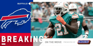 Memes, Buffalo, and Frank Gore: BUFFALO  BREAKINC  ON THE MOVE  SMG(RS  PRESENTED BY .@RapSheet + @MikeGarafolo: Bills signing RB Frank Gore to one-year, $2M deal. (by @SNICKERS) https://t.co/iOeDm8q3XM