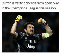 Buffon = GOAT 🐐😳 🔺FREE FOOTBALL EMOJIS -> LINK IN BIO!!!: Buffon is yet to concede from open play  in the Champions League this season  Jeep Buffon = GOAT 🐐😳 🔺FREE FOOTBALL EMOJIS -> LINK IN BIO!!!