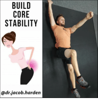 Bodies , Curving, and Memes: BUILD  CORE  STABILITY  @dr.jacob.harden USE THIS EASY DRILL FOR YOUR LOW BACK PAIN Do you have back pain when you stand for long periods of time? Or when you raise your arms overhead?🙆‍♂️ . If you do, your back may be sensitive to extension. You see, the joint stress of your low back is distributed between your vertebral bodies and discs in the front and the facet joints in the back. . How much your back is curved can affect how this stress shifts. The low back naturally has a backwards curvature. When we sit, we load the front of the vertebrae more because the curve tends to flatten and be more straight. When we stand, we tend to be more extended and load the facet joints more. . So if you have pain when standing or bending backwards, it's most likely due to a sensitivity to extension. And the best way to combat that is to train the anterior core muscles (💪rectus abdominus and obliques) to keep you from repetitively extending in day to day movements and posture. . This requires not only strength but motor coordination too. And the dead bug is the perfect exercise for the job. This band cue will help you really focus on keeping those ribs tucked down so you don't overextend. Focus on quality over quantity. Go slow and controlled and don't forget to BREATHE!😥 . Tag a friend with low back pain and share the wealth! MyodetoxOrlando Myodetox