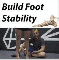 Memes, Control, and Work: Build Foot  Stability  lil i MY NUMBER ONE EXERCISE TO FIX YOUR FEET As promised, here it is! This is the exercise I use all the time to fix foot and ankle issues.👟 How can it help you? . If you ↘↙ pronate: You most likely don't have an effective windlass mechanism and don't engage the deep calf muscles. This will train you to push off through the big toe and strengthen your arch and deep foot muscles. For you guys, 🖐 5 second holds at the top will be very helpful and don't be surprised if you feel your feet cramp up. If you ↙↘ supinate: You roll to and push off through the outside of the foot. You need to come ⏪ back to the big toe. For you, we want to instill a new motor pattern so higher reps with good technique are best and perform them frequently throughout the day. If you have 🔥 plantar fasciitis or Achille's tendon pain: You need to fix the mechanics, but you can also use this to load the tissues and make them stronger. Slow eccentric sets are best for you. Raise up and lower as slowly and with as much control as possible. A few sets of 15 performed twice a day will help a lot. If you chronicly 💢 sprain your ankles: You most likely push off through the outside and don't have the dynamic lateral stability from the peroneals. Repattern like the supinators and get those muscles 💡 firing again to stabilize your ankles. There you have it guys! Now go to work, tag a friend, and start fixing your feet! MyodetoxOrlando Myodetox