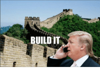 BUILD IT Donald Trump Calls On China To Construct His Wall