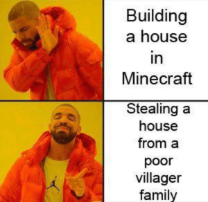Boonk gang: Building  a house  in  Minecraft  Stealing a  house  from a  poor  villager  family Boonk gang