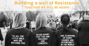 Girls, Omg, and Tumblr: Building a wall of Resistance  TOGETHER WE WILL BE HEARD  TO ALL THE  LITTLE GIRLS  WHO ARE  WATCHING THIS  NEVER DOUBT  THAT YOU ARE  VALUABLE  AND  POWERFUL  AND DESERVING  OF EVERY  CHANCE AND  OPPORTUNITY  IN THE WORLD omg-images:  One of the many gems from this site