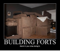 Memes, 🤖, and You: BUILDING FORTS  Admit it you miss doing it. Miss it
