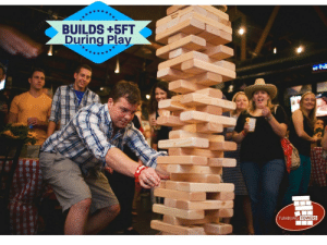 Facebook, Friends, and Lol: BUILDS +5FT  During Play  .2  TUMBLING  TOWERS lol-coaster: Giant Tumbling Towers Game Plays up to +5 FEET. Customize the blocks with any LOGOS or COLORS for your event or party with your friends. Free Fedex Shipping Daily!     www.facebook.com/tumblingtowers