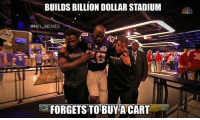 Anyone else thinking this?: BUILDS BILLION DOLLARSTADIUM  @NFL MEMES  FORGETS TO BUY A CART Anyone else thinking this?