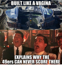 The 49ers at CentryLink…: BUILT LIKE A VAGINA  @NEL MEMES  EXPLAINS WHY THE  49ers CAN NEVER SCORETHERE The 49ers at CentryLink…
