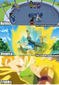 Future Trunks got scolded by everyone in his family, Including himself: Bulma  Vegeta  Trunks  Fb.com/Proudsayian  Ft.com Proudsayia Future Trunks got scolded by everyone in his family, Including himself