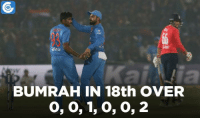 Will this over be a match turning moment for India?: BUMRAH IN 18th OVER  0, 0, 1, 0, 0, 2 Will this over be a match turning moment for India?