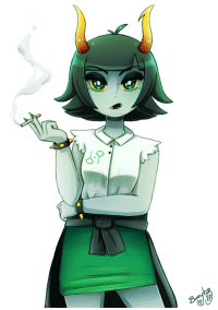 Saw, Target, and Tumblr: bunnyloz:  My inner Homestuck came out  I tried to resist but i couldn't help myself when i saw this girl. Also she looks like she smokes but that's just my headcanon.