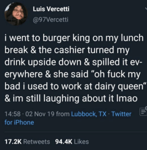 Burger King worker with a fail by lol62056 MORE MEMES: Burger King worker with a fail by lol62056 MORE MEMES