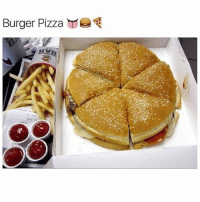 have yall ever seen such beauty: Burger Pizza have yall ever seen such beauty