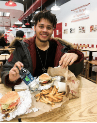 """Those Cajun fries went down my throat like a slippery albino penguin. Pause.: Burger  """"This Times Magazine, NY2008  aumrt Those Cajun fries went down my throat like a slippery albino penguin. Pause."""