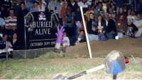 BURIED ALIVE: 20 YEARS AGO TODAY Long before Brennan Huff tried to bury Dale Dobak alive in #Stepbrothers, the #Undertaker & I were at it in the first ever #BuriedAlive match. I don't have much in the way of career memorabilia at my house, but man I wanted that tombstone. I could have turned it into a nice coffee table!: BURIE  ALIVE  OCTOBER 20TH 199 BURIED ALIVE: 20 YEARS AGO TODAY Long before Brennan Huff tried to bury Dale Dobak alive in #Stepbrothers, the #Undertaker & I were at it in the first ever #BuriedAlive match. I don't have much in the way of career memorabilia at my house, but man I wanted that tombstone. I could have turned it into a nice coffee table!