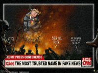 So we watch CNN every once in awhile for entertainment. The world could be on fire and they would have still kept bashing Trump throughout his campaign. It was actually pretty crazy. It has been a political witch hunt for CNN. I thought that after the election the press would just eat crow and accept Trump is our President. Instead they are still rabid attack dogs. Trump vs the MSM: a contentious relationship we will all be watching. presidenttrump donaldtrump hesyourpresident cantstumpthetrump americafirst standunited maga vetsbeforerefugees defundpp msm butthurt cnn politics politicalwitchhunt nevertrump notmypresident fakenews journalismisdead partner @thought_criminals: BURN THE  MET THE RNSSIAN  WITCH  HOOKERS PUT OUT  WITCH  THE FIRE  RUMP PRESS CONFERENCE  LIVE  CNN THE MOST TRUSTED NAME IN FAKE NEWS  Wed 11.00 AM EST  SeanDelonas.com CagleCartoons.com So we watch CNN every once in awhile for entertainment. The world could be on fire and they would have still kept bashing Trump throughout his campaign. It was actually pretty crazy. It has been a political witch hunt for CNN. I thought that after the election the press would just eat crow and accept Trump is our President. Instead they are still rabid attack dogs. Trump vs the MSM: a contentious relationship we will all be watching. presidenttrump donaldtrump hesyourpresident cantstumpthetrump americafirst standunited maga vetsbeforerefugees defundpp msm butthurt cnn politics politicalwitchhunt nevertrump notmypresident fakenews journalismisdead partner @thought_criminals