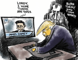 Hope, Wonder, and James: BURN  THEM  LORDY  I HOPE  THERE  ARE TAPES  BURN  THEM  Now!I!  JAMES COMEY I wonder where those tape recordings went