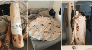 novelty-gift-ideas:  Burrito blanket: Burrito Bla  100% MICROFR novelty-gift-ideas:  Burrito blanket