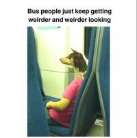 Memes, Girl, and Boy: Bus people just keep getting  weirder and weirder looking  Litt I can't even tell if it's a boy or a girl 😬