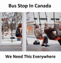 Bus, Bus Stop, and Stop: Bus Stop In Canada  We Need This Everywhere