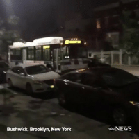 Abc, Cars, and Church: Bushwick, Brooklyn, New York  abc  NEWS rp @abcnews - Video shows an empty MTA bus roll down a Brooklyn block, striking several parked cars before crashing to a stop in front of a church. MTA Brooklyn NYC Bushwick NY CityBus Bus @pmwhiphop