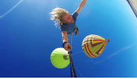 Business is booming in the hot air balloon rope swing business. http://goo.gl/QQMvfk: Business is booming in the hot air balloon rope swing business. http://goo.gl/QQMvfk