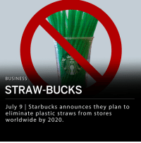 """Starbucks announced today they plan to eliminate plastic straws from their 28,000 stores worldwide by 2020. This announcement makes Starbucks the largest food and beverage company to eliminate plastic straws from their corporation. The company said their straw-less initiative could mean a billion less plastic straws throughout all their stores each year. ___ Starbucks said they will be using straws made from biodegradable materials and specially designed lids that some are calling an """"adult sippy cup."""" The new strawless lid is RECYCLABLE and has already been implemented in some Starbucks locations. ___ Kevin Johnson, President and Chief Executive Officer for Starbucks, said in a statement: - """"For our partners and customers, this is a significant milestone to achieve our global aspiration of sustainable coffee, served to our customers in more sustainable ways."""" ___: BUSINESS  STRAW-BUCKS  July 9 