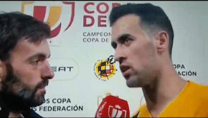 Busquets: It's just 1-0 and we still have to play at our home. The tie is wide open.  Reporter: There is no 2nd leg. https://t.co/2pgWrB4LOA: Busquets: It's just 1-0 and we still have to play at our home. The tie is wide open.  Reporter: There is no 2nd leg. https://t.co/2pgWrB4LOA