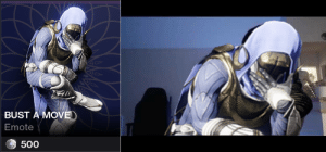 Goodnight guardian, I'll see you tomorrow: BUST A MOVE  Emote  500 Goodnight guardian, I'll see you tomorrow