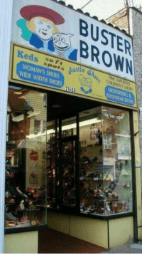 Who remembers these shoe stores?  Who wore Buster Brown shoes?  ms: BUSTER!  )BROWN  Keds sootーSindh% CHIL  spots  CHILDREN'S SHOES  WOMAN'S SHOES  ORTHOPEDIC:  FITh  WIDE WIDTH SHOES  ria 's44 Who remembers these shoe stores?  Who wore Buster Brown shoes?  ms