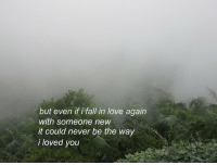 In Love Again: but even if i fall in love again  with someone new  it could never be the way  i loved you