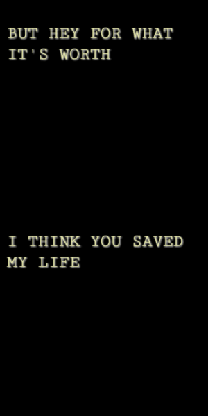 Life, Tumblr, and Blog: BUT HEY FOR WHAT  IT S WORTH   I THINK YOU SAVED  MY LIFE plumoliver:not warriors // waterparks