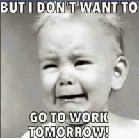Dank, Work, and Tomorrow: BUT I DONT WANT TO  GO TO WORK  TOMORROW!