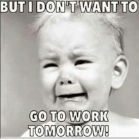 Memes, Work, and Minion: BUT  I  DON'T  WANT TO  GO TO WORK  TOMORROW! Join For More...<3 Minion Quotes